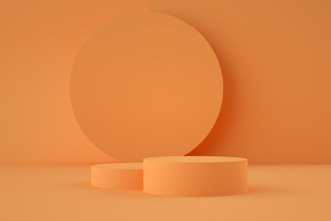 Holografische 3d geometrische podium voor productplaatsing