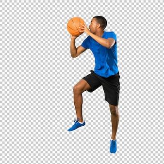 Hombre afroamericano jugador de baloncesto