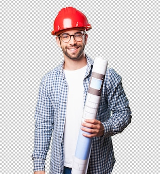 Hombre arquitecto sonriendo
