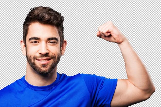 Hombre joven fuerte