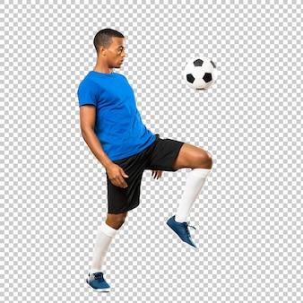 Hombre jugador de fútbol afroamericano