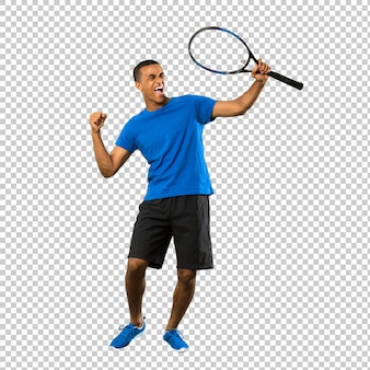 Hombre de jugador de tenis afroamericano