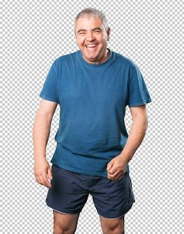 Hombre maduro feliz