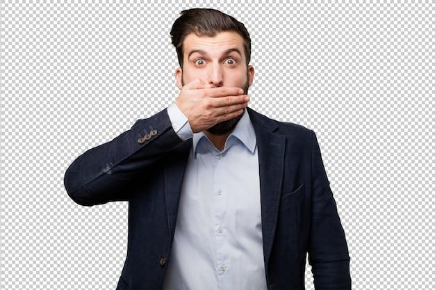 Hombre de negocios joven con billetes