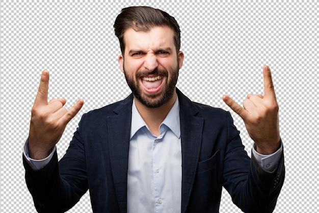 Hombre de negocios joven con reloj