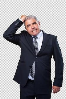 Hombre de negocios pensando