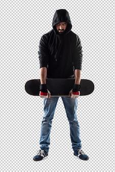 Hombre con su patineta