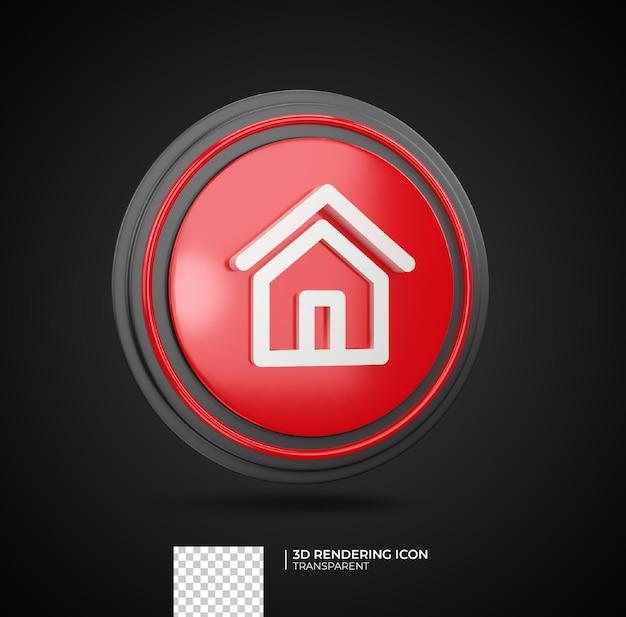Home 3d render pictogram illustratie