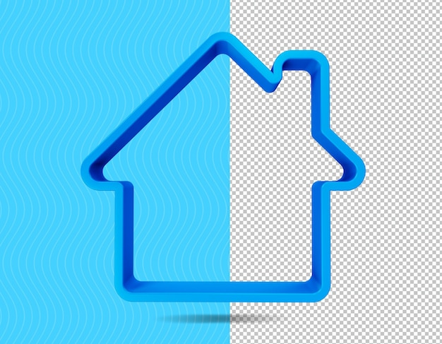 Home 3d render-pictogram