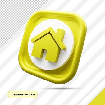 Home 3d-rendering pictogram