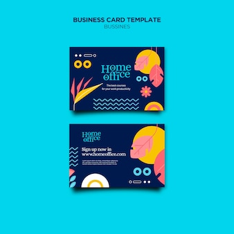 Home office-sjabloon voor visitekaartjes