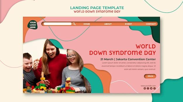 Homepage van de wereld down-syndroomdag