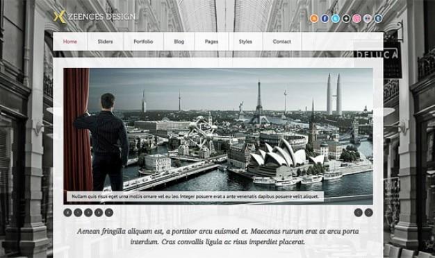 Homepage zeences psd
