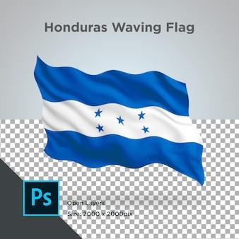 Honduras flag wave transparente psd