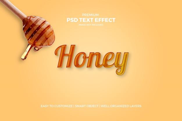 Honing tekst effect Premium Psd