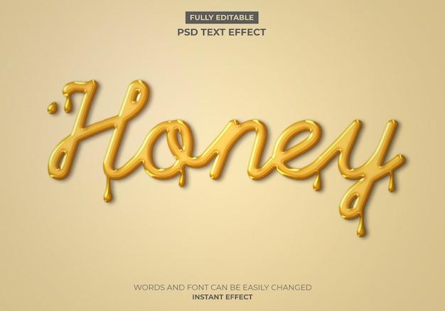 Honing teksteffect