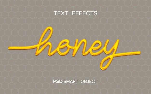 Honing vloeibaar teksteffect