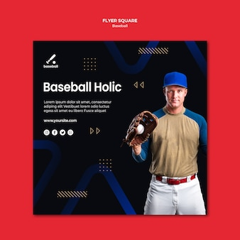 Honkbal flyer-sjabloon