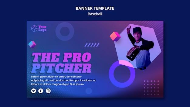 Honkbal training sjabloon banner