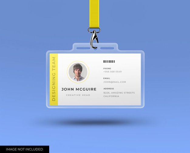 Hoofdkantoor id-kaart met mockup