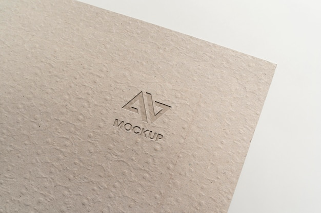 Hoofdletter mock-up logo ontwerp