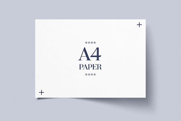 Horizontaal a4-papieren model