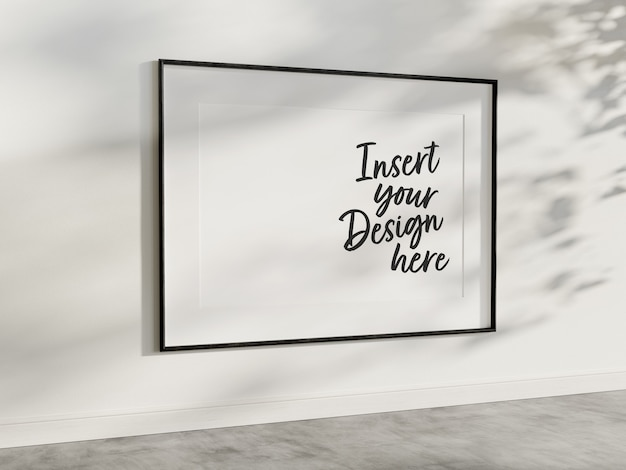 Horizontaal frame dat op muurmodel hangt