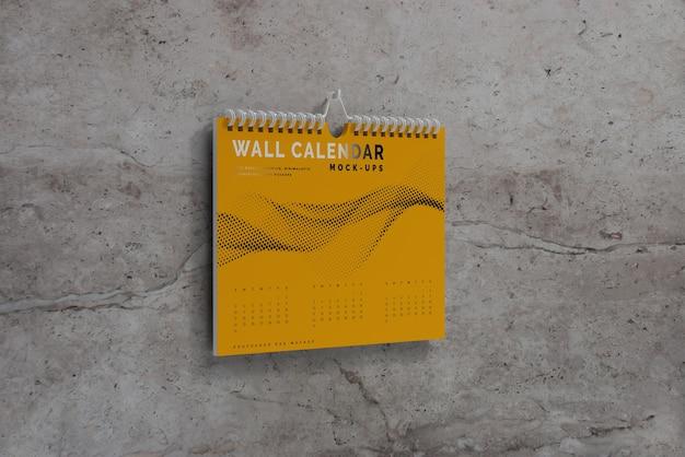 Horizontaal wandkalendermodel