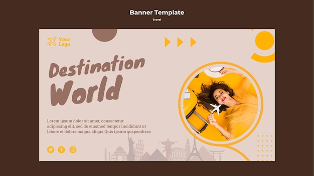 Horizontale banner voor avontuurlijke reizen