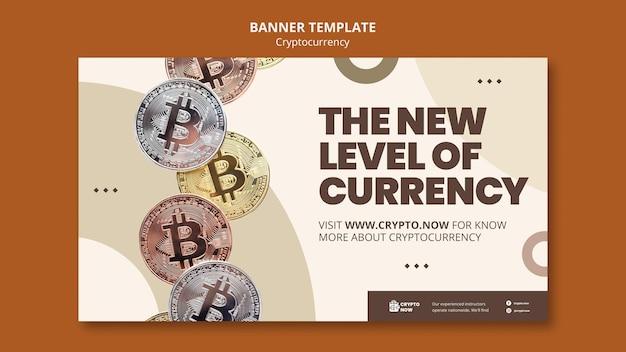 Horizontale banner voor cryptohandel leren