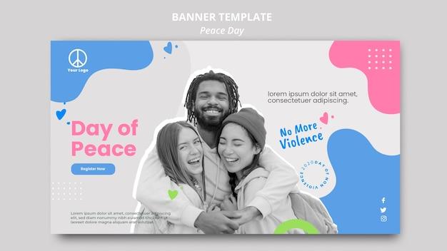 Horizontale banner voor de viering van de internationale vredesdag