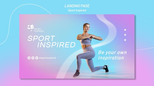 Horizontale banner voor fitnesstraining