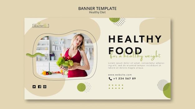 Horizontale banner voor gezonde voeding