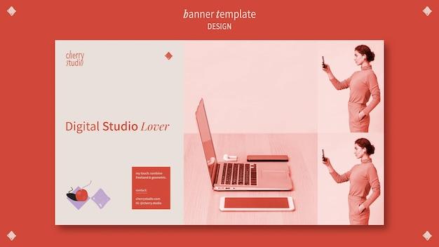 Horizontale banner voor grafisch ontwerper