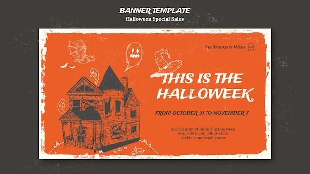 Horizontale banner voor halloweek