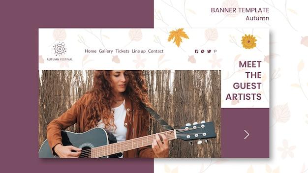 Horizontale banner voor herfst concert