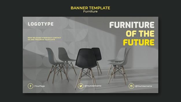 Horizontale banner voor interieurontwerpbedrijf
