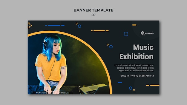 Horizontale banner voor muziekfestival