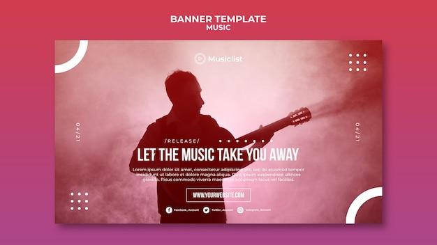 Horizontale banner voor muziekliefhebbers