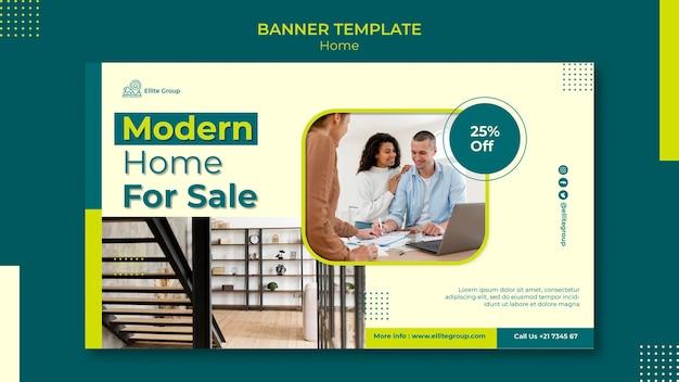 Horizontale banner voor nieuwe gezinswoning