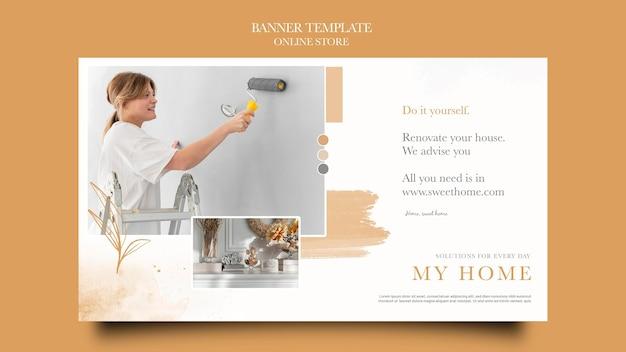 Horizontale banner voor online meubelwinkel