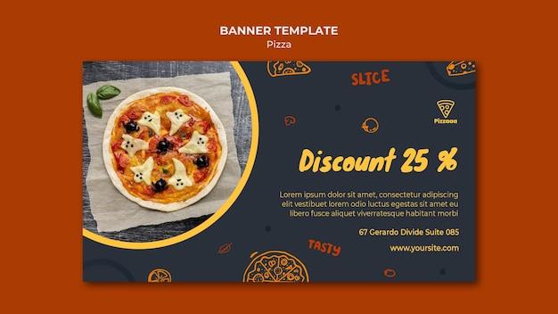 Horizontale banner voor pizzarestaurant