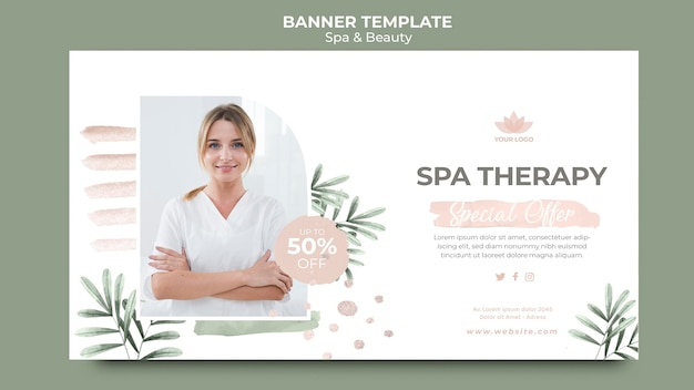 Horizontale banner voor spa en beauty