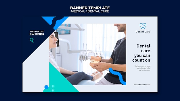 Horizontale banner voor tandheelkundige zorg