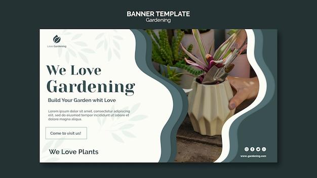 Horizontale banner voor tuinieren