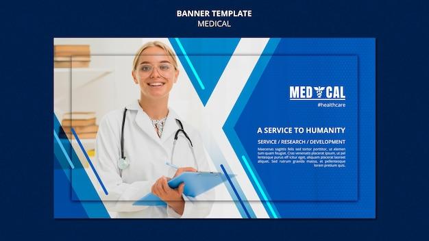 Horizontale banner voor vaccinatie tegen het coronavirus