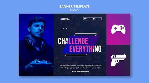Horizontale banner voor videogames spelen