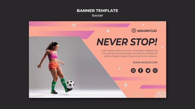 Horizontale banner voor voetbal