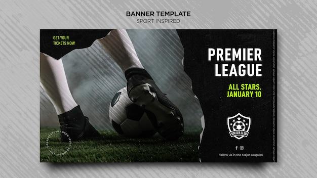 Horizontale banner voor voetbalclub