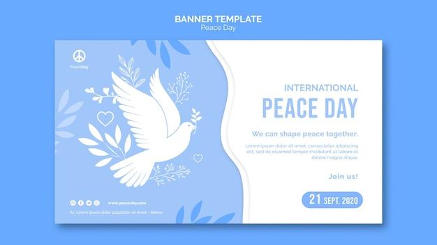 Horizontale banner voor vredesdag